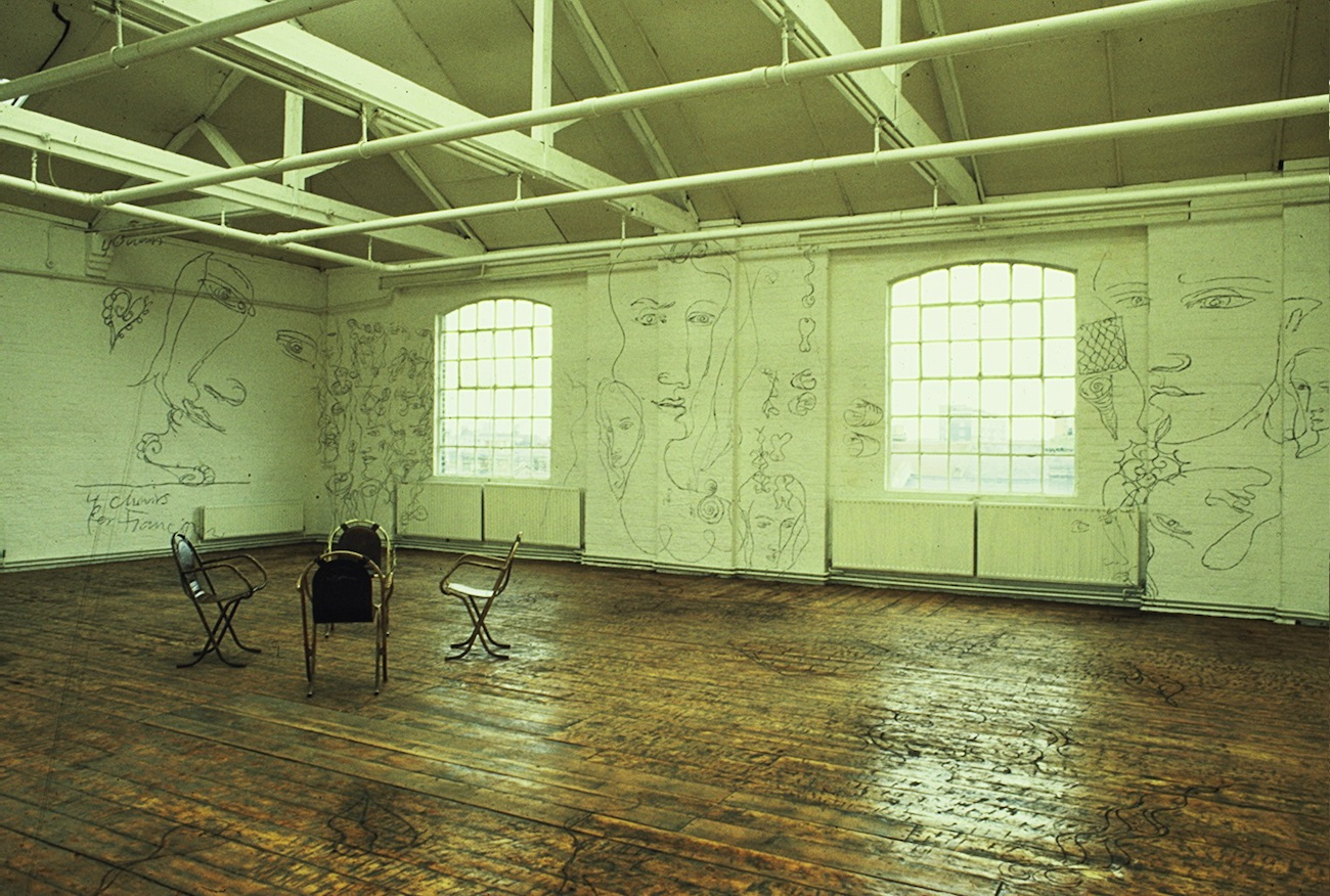 4 Chairs Room 1987 - (all Unit 7 photos Edward Woodman).