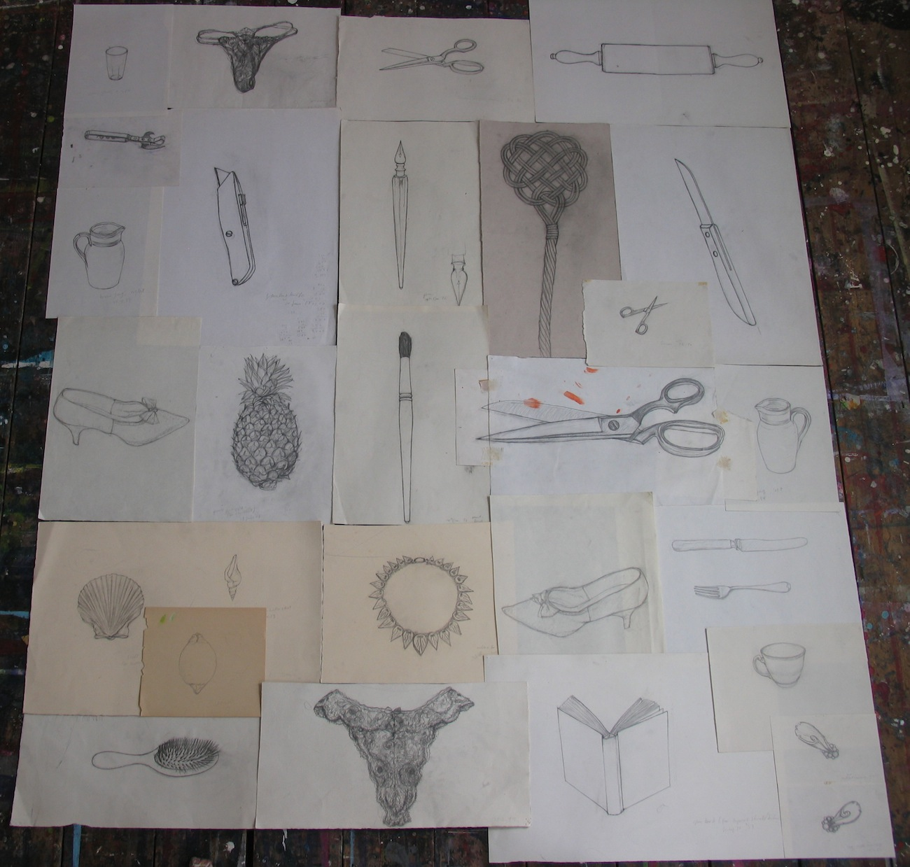 Composite Drawings 1984-2010 - dimensions variable - pencil on various papers.